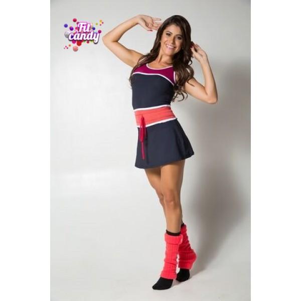 Платье для тенниса и фитнеса Black & Red