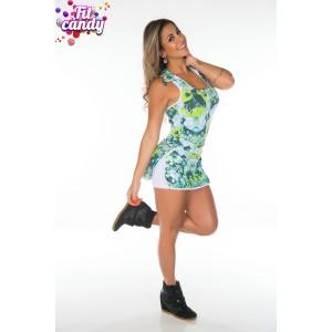Платье спортивное для фитнеса Green flowers