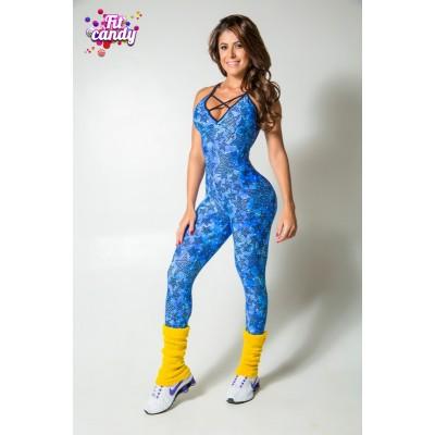 Комбинезон спортивный для фитнеса Blue stars 2