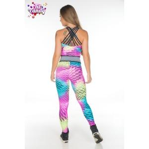 Спортивный женский комбинезон Pink snake