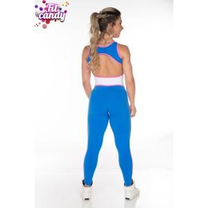 Комбез для йоги и фитнеса Wonder Women blue