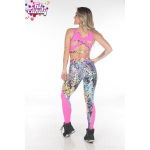 Костюм спортивный для фитнеса Bright Pink