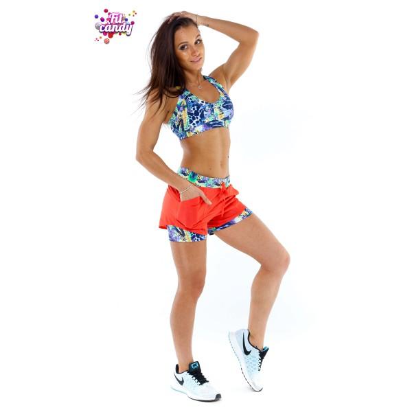 Костюм для фитнеса топ и шорты Summer
