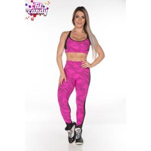 Костюм для йоги Pink & Black