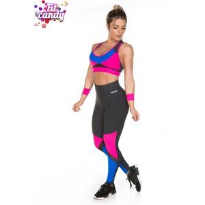 Комплект спортивный для фитнеса Black & Pink