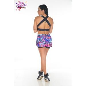 Короткие шорты для фитнеса Colorful 3
