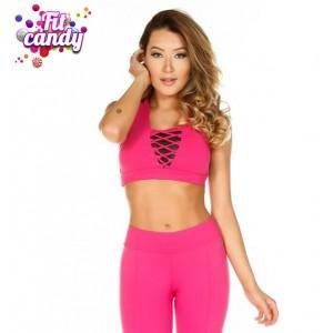 Топ спортивный для фитнеса Pink & Black