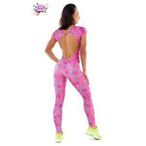 Спортивный комбинезон для фитнеса женский Pink Ice