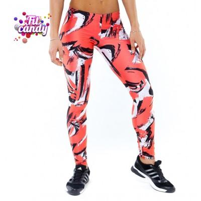 Спортивные легинсы для фитнеса женские Abstraction