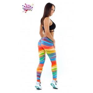 Лосины спортивные женские для фитнеса Rainbow