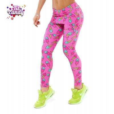 Легинсы спортивные розовые с юбочкой Pink Ice