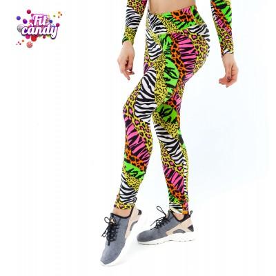 Спортивные лосины для танцев Wild leopard