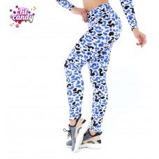Спортивные лосины для фитнеса Spot leopard