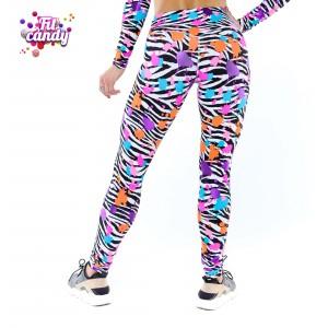 Спортивные легинсы для фитнеса Spot zebra