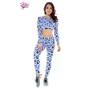 Мини рашгард и  легинсы для танцев Spot leopard
