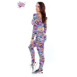 Костюм для танцев и фитнеса Spot zebra