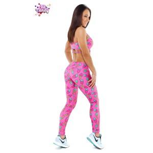 Комплект лосины и топ спортивный Pink Ice