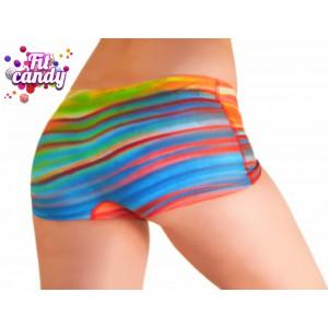 Спортивные женские шорты для  pole dance Rainbow