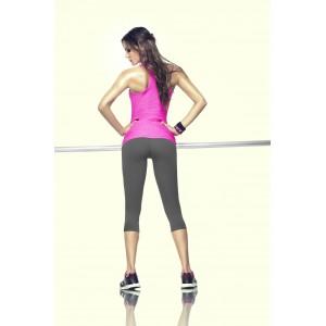 Майка спортивная для фитнеса Long Pink