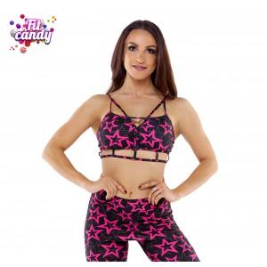 Cпортивный топ для фитнеса Pink Star