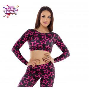 Майка женская для танцев Pink Star
